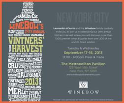 Evento Winebow 24th Annual Vintner's Harvest 2013 - Nova Iorque
